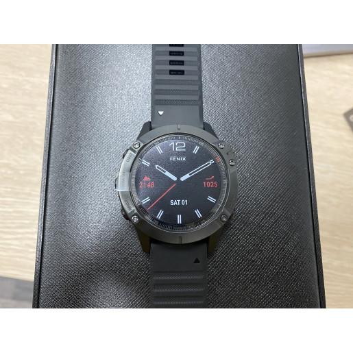 Часы Garmin Fenix 6 Sapphire черный с черным ремешком