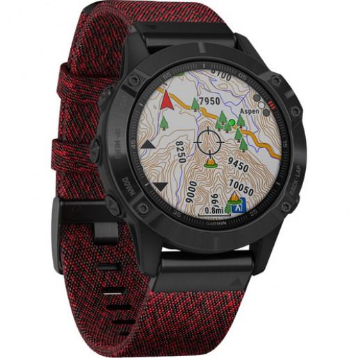Часы Garmin Fenix 6 Sapphire DLC с нейлоновым ремешком