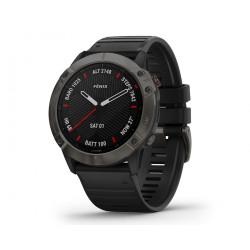 Часы Garmin Fenix 6X Sapphire серый DLC с черным ремешком