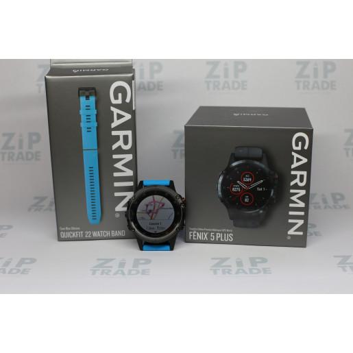 Часы Garmin Fenix 5 plus sapphire черные с черным ремешком