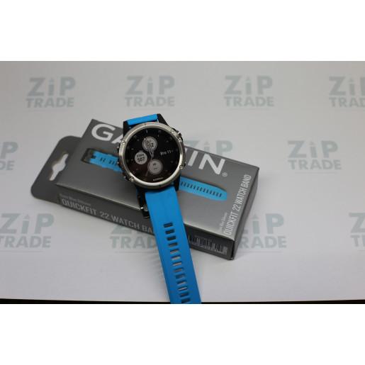 Часы Garmin Fenix 5 Plus серебристый с черным ремешком