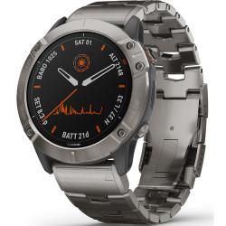 Часы Garmin Fenix 6X Pro Solar титановый с титановым браслетом