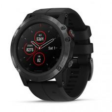 Часы Garmin Fenix 5X plus sapphire черные с черным ремешком