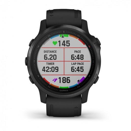 Часы Garmin Fenix 6S Pro черный с черным ремешком