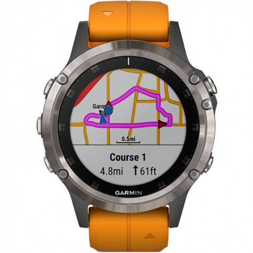 Часы Garmin Fenix 5 Plus sapphire титановый