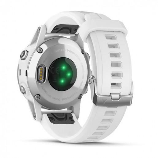 Часы Garmin Fenix 5S  Plus sapphire белые  с белым ремешком