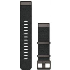 Garmin Ремешок сменный QuickFit 22 мм (жаккардовый) черный с серой застёжкой